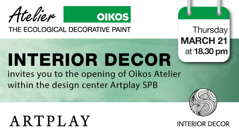 Opening of Oikos Atelier in Saint Petersburg along with INTERIOR DÉCOR