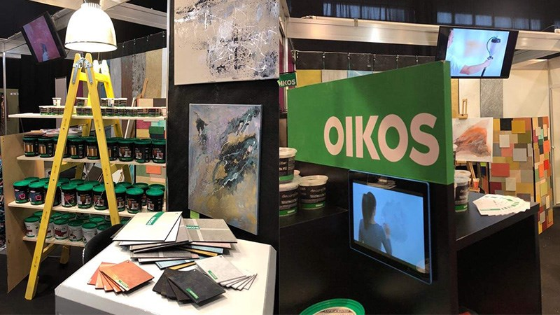 Oikos the ecological decorative paint star of the most important fair in the Hungarian construction